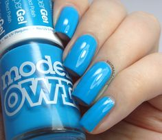 Brit Nails: Models Own HyperGel Swatches - Cerise Shine, Blue Glint and Red Lustre