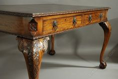 19thc Fine Quality Chippendale Style Writing Table - Antiques Atlas