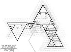 Fractal Geometry in the Late Work of Frank Lloyd Wright from the book Nexus II: Architecture and Mathematics Triangular Architecture, Geometry Architecture, Architecture Plan, B Plan, How To Plan, Concept Board Architecture, Palmer House, Fractal Geometry, Hospital Design