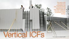 ICF Builder Magazine » Vertical ICF's Insulated Concrete Forms, Energy Efficiency, Shop Ideas, Custom Homes, Construction, Magazine, Building, House, Energy Conservation
