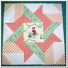 Star Sampler Quilt Alon g– Block 8 - Frolic Variation