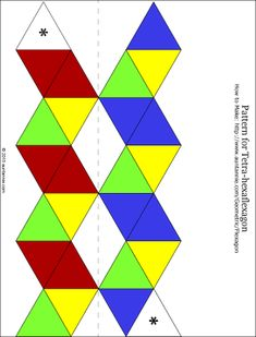 Blank and Decorated Hexahexaflexagon Template | flexagon | Pinterest ...