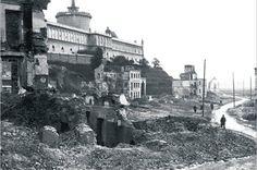 Lublin, Dzielnica Żydowska, ul. Krawiecka, destruction by nazis after killing the Jewish population 1942-1943.