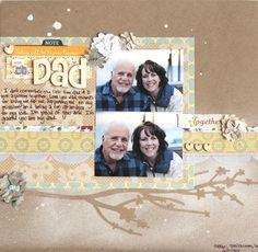 Gorgeous misted layout by Diana Waite using the Scrapbook Circle Fresh Picked kit