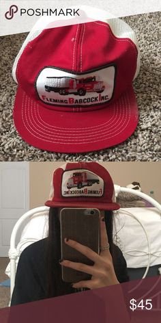 820ad40c1a0 VTG 80 s Trucker Hat These vintage hats are no where near perfect  condition. They were