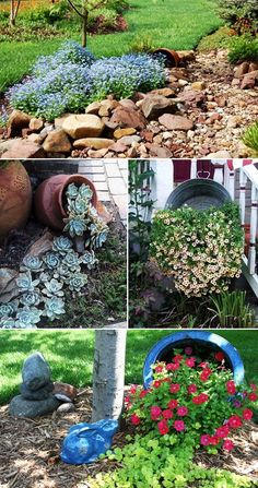 MENTŐÖTLET - kreáció, újrahasznosítás: Virágos kert Garden Ideas To Make, Garden Yard Ideas, Diy Garden Projects, Lawn And Garden, Garden Fence Paint, Front Yard Garden Design, Flower Garden Design, Farm Gardens, Outdoor Gardens