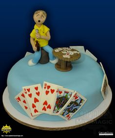 We don't play cards that much, but when we were tasked to make a cake based on the game Tong-Its; we took the time to understand how to play the game. Our customer was so happy that the cards… Custom Cakes, How To Make Cake, Pastries, Magic, Desserts, Food, Personalized Cakes, Tailgate Desserts, Deserts