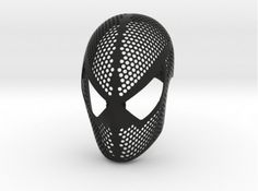 People Will Be Unable to Unglue Their Eyes Off You With This 3D-printed Spider-Man Mask #3DPrinting #Spiderman