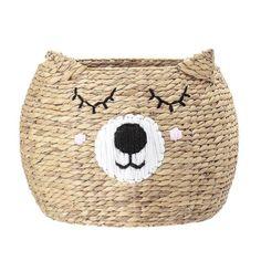 Bloomingville Mini Bear Storage Basket - Beaumonde Bear Head, Bear Face, Objet Deco Design, Sleepy Bear, Water Hyacinth, Bear Print, Cute Bears, Finding A House, Storage Baskets