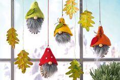 Basteln mit Tannenzapfen ist im Herbst eine super Idee. Wie wäre es z.B. mit diesen lustigen Zapfen-Männchen fürs Fenster? Wie haben die Bastelanleitung. © OZ-Verlags-GmbH 2014