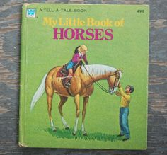Vintage 70\'s MY BOOK of HORSES Whitman Tell A Tale by WUNDERSTUFF, $4.99