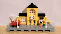#LEGO #Microscale Yellow Train Station (Mini 4554)