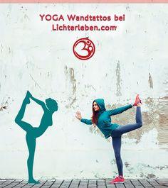 Wanddeko und Wandtattoos verwandeln deine Räume in Wohlfühl Räume und sorgen für Leichtigkeit in der Yoga Praxis. Komm in deinen Yoga Flow #lichterleben#wandatttoos