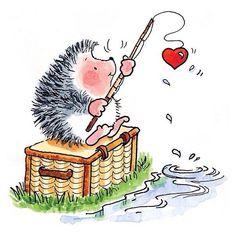 Ежики, любовь, день Св. Валентина