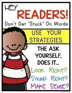 Hey Readers! Mini Poster Set for Reading Strategies: Kindergarten and First Grade Classrooms. Includes; eagle eye, lips the fish, skippy frog, stretchy snake, floppy dolphin, chunky monkey. $