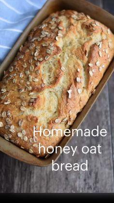 Vegan Kitchen, Kitchen Recipes, Easy Bread Recipes, Baking Recipes, Healthy Recipes, How To Make Bread, Bread Making, Honey Oat Bread, Irish Soda Bread Recipe