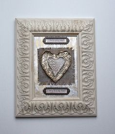 Framed Clay Heart Art  I Carry Your Heart by ArtofMyFocus on Etsy