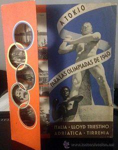 Catálogo Lloyd Triestino. ´A Tokio para las Olimpiadas de 1940´ Cruceros Barcos Fascismo italiano - Foto 1