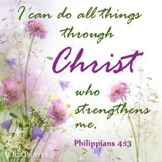 Ican do all things through Christ
