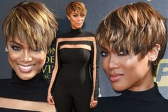 Daytime Emmys host Tyra Banks rocks cropped 'do and stuns in cut-out black jumpsuit - 3am & Mirror Online