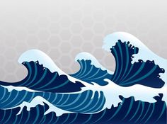Asian waves 3   Home   Pinterest   Waves, Nursery Wall Murals and ...