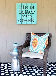 easy outdoor word art