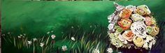 weddingflowers, Acryl on canvas