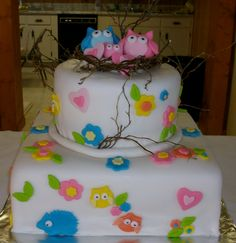 One of my baby shower cakes