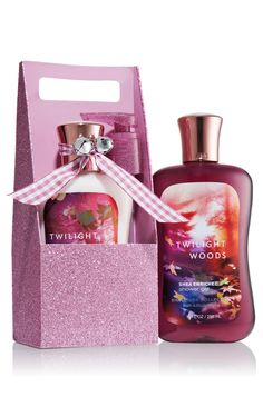 Twilight Woods Body Lotion & Shower Gel Carrier - Signature Collection - Bath & Body Works