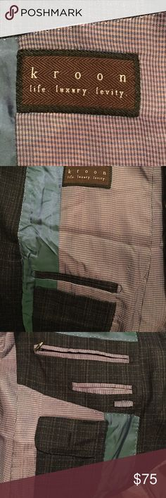 Kroon silk wool blend blazer Very light and comfortable blazer. Easily paired w deeper richer colors. I have pictures w jeans but would look great w some charcoal grey slacks. True to size Kroon Suits & Blazers Sport Coats & Blazers