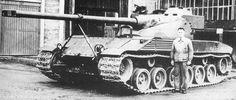 Bat Chatillion 25t   A French Medium tank of WW2.  For more in depth historical info plus tanks identity go here for more info:  http://wiki.worldoftanks.com/Bat_Chatillon_25_t