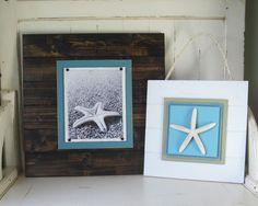 Distressed White Starfish Plank Wall Art. 49.95, via Etsy.