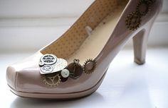 Steampunk - ed wedding shoes!
