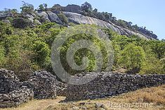 Part of the great Zimbabwe ruins.