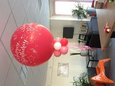 Www.ballondecor.nl   happy birthday  Staande topballon