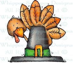 Tucker the Turkey - Thanksgiving - Holidays - Rubber Stamps - Shop