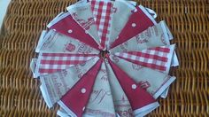 Handmade Christmas Bunting with Fryetts Vintage Clarke & Clarke Laura Ashley