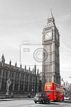 """Wall Mural """"london, ben, big - the big ben, the house of parliament and the westminster bridge"""" ✓ Easy Installation ✓ 365 Day Money Back Guarantee ✓ Browse other patterns from this collection!"""