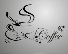 Cheap wall sticker, Buy Quality removable wall stickers directly from China vinyl quotes Suppliers: home decor Coffee cup, vinyl quote removable wall Stickers, DIY home decor wall art MURAL I Love Coffee, Black Coffee, My Coffee, Coffee Candy, Coffee Menu, Coffee Scrub, Coffee Creamer, Starbucks Coffee, Removable Wall Stickers
