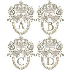 Monogram Design, Monogram Letters, Free Monogram, Quilting Designs, Machine Embroidery Designs, Applique Designs Free, Family Crest Symbols, Monogram Tattoo, Stitch Delight