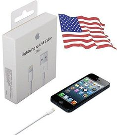 Original Apple Lightning to USB Charge & MFi Cable for iPhone 6Plus/6s/5/SC/iPod New with Retail Box