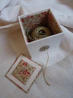 Beautiful and useful for my dishcloth yarn, or scrapbooking string.