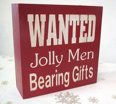 Christmas Holiday Wooden Painted Box Sign by PersonalizedbyCheryl, $15.00