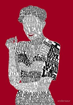 """Irene Adler Typography Art"" Posters by andersaur"