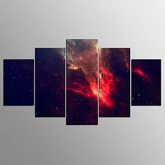 Stretched Canvas Print Abstract,Five Panels Canvas Horizontal Print Wall Decor For Home Decoration 6002283 2017 – $81.59