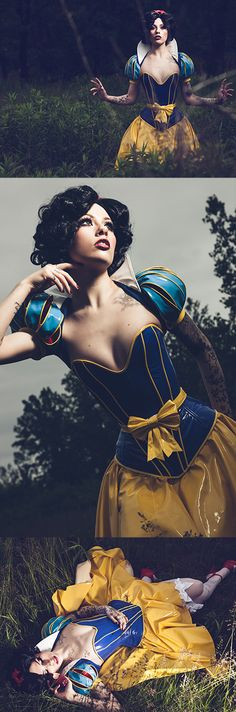 Rarely duplicated off the red carpet, Disney Princess Pinup: Snow White has a not-so-normal look that is praised by many. Disney Cosplay, Disney Costumes, Cosplay Costumes, Cosplay Outfits, Halloween Costumes, Snow White Cosplay, Snow White Costume, Amazing Cosplay, Best Cosplay