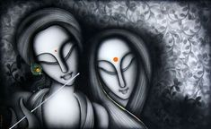 K Prakash Paintings India - Choose your favourite K Prakash Paintings from list of available paintings from Suchitraa Arts. Art Drawings For Kids, Pencil Art Drawings, Art Drawings Sketches, Indian Art Paintings, Modern Art Paintings, Paintings Online, Krishna Art, Lord Krishna, Shiva