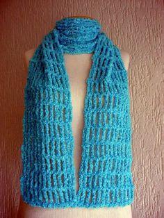 Cachecol em crochê… fazer para ficar mais elegante!