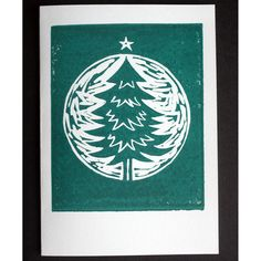 SAVE MONEY - BUY 3 FOR See item 'Pack of and specify on order which 3 cards you would like. Hand printed linocut with water based ink. Christmas Tree Cards, Xmas Cards, Christmas Art, Christmas Images For Cards, Summer Christmas, Christmas Patterns, Simple Christmas, Xmas Tree, Holiday