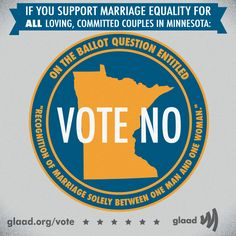 Urge Minnesotans to support marriage equality!